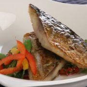 Mackerel with Asian salad