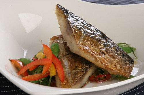 Mackerel with Asian salad