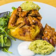 Mexican Jacket Potato with Spicy Mackerel