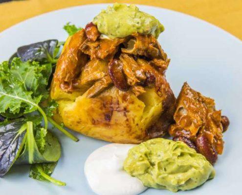 Mexican Jacket Potato with Spicy Mackerel